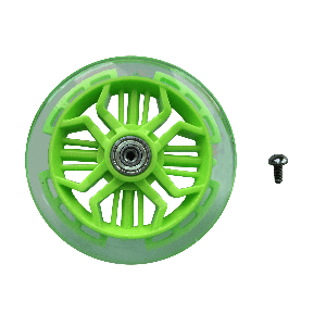 Neon Glider Air 120mm Flashing Front Wheel Green