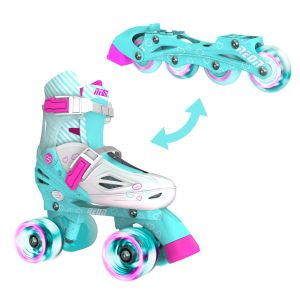 Neon Combo Skates 2-in-1 Teal, Size 3-6