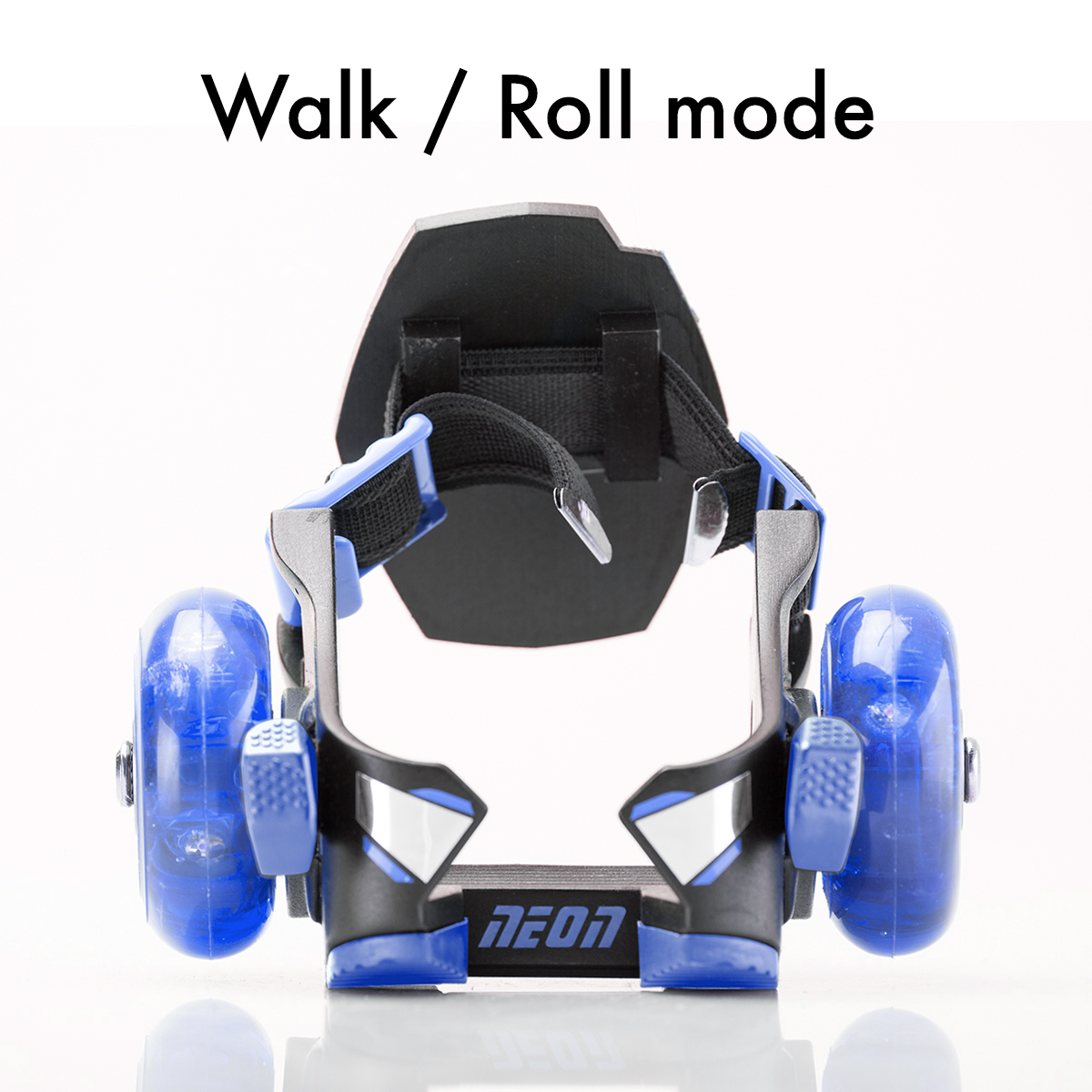 Flick the levers to switch between walking and rolling modes