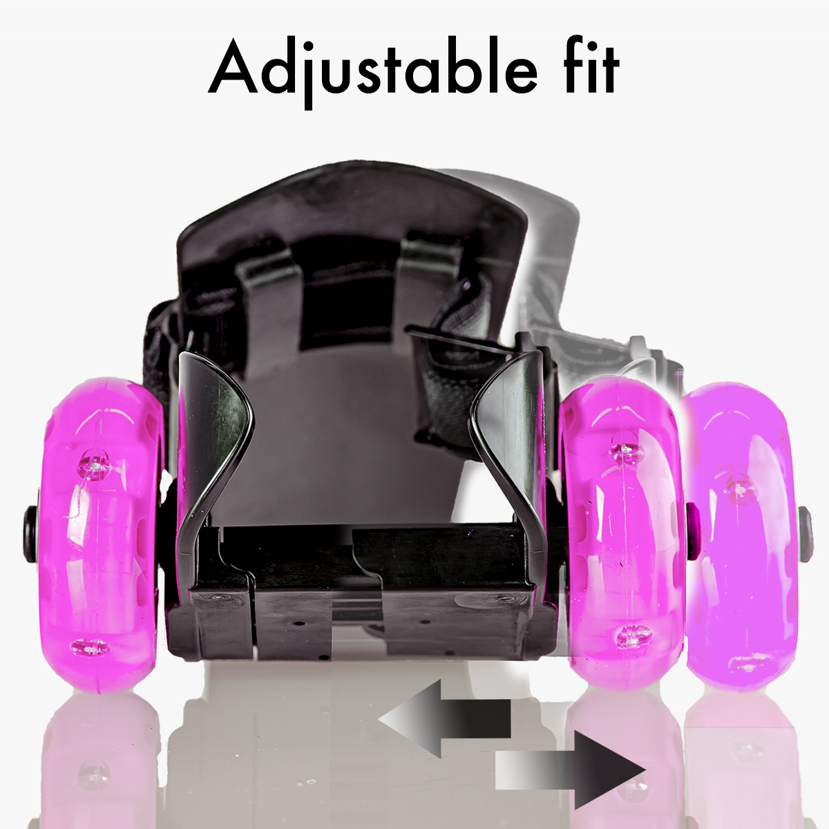 Fully adjustable to fit most shoes