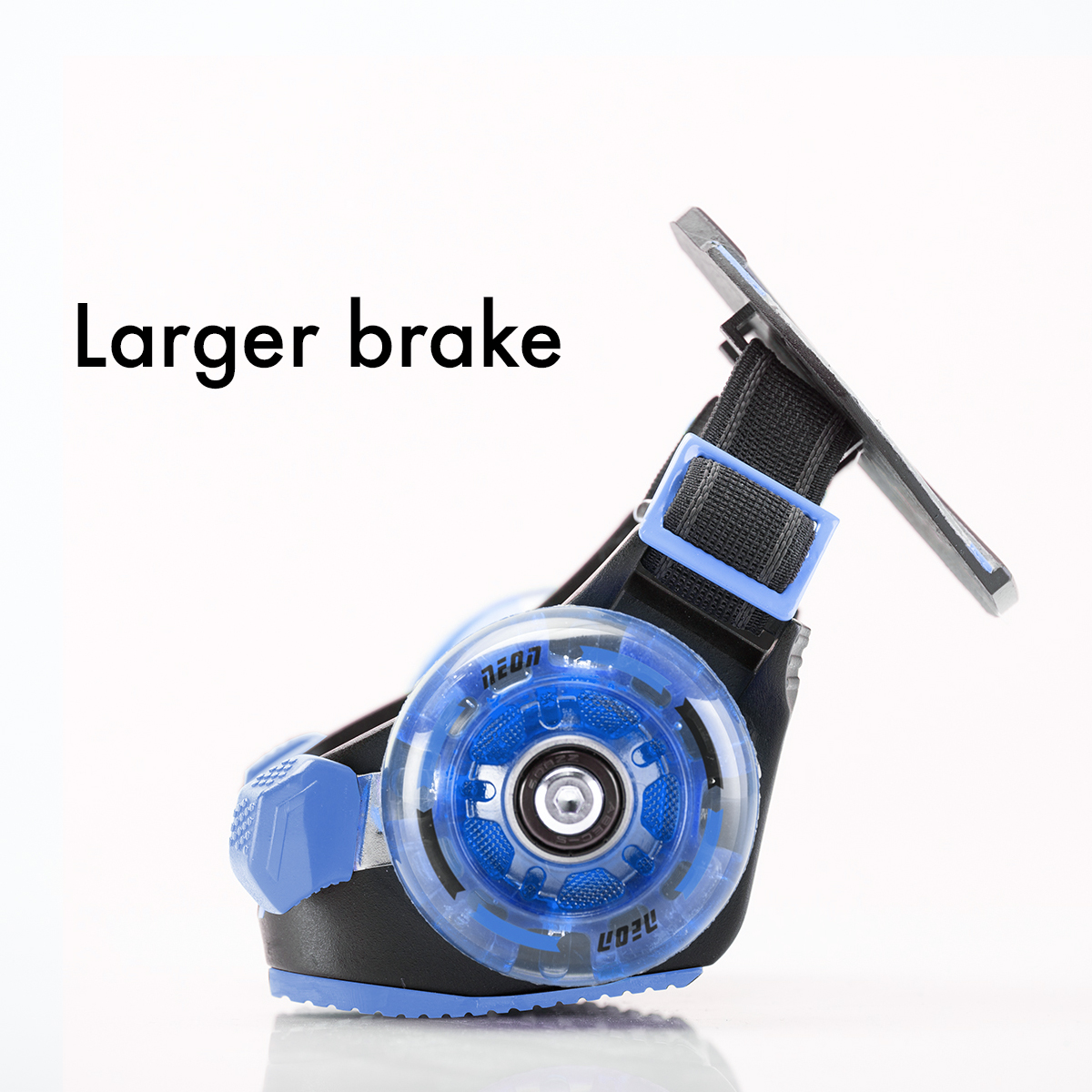 Larger brakes for stopping quickly