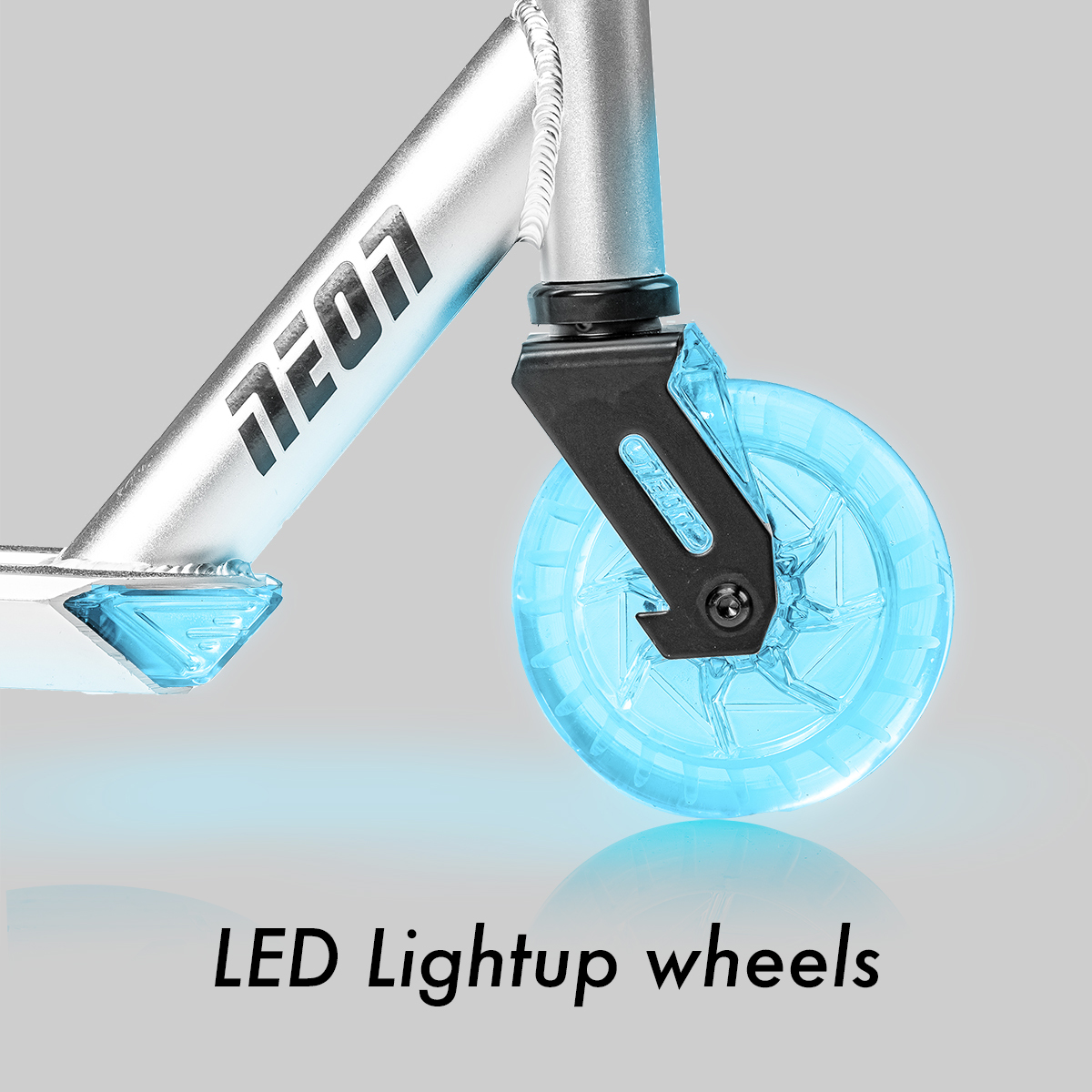 Transparent light up wheels