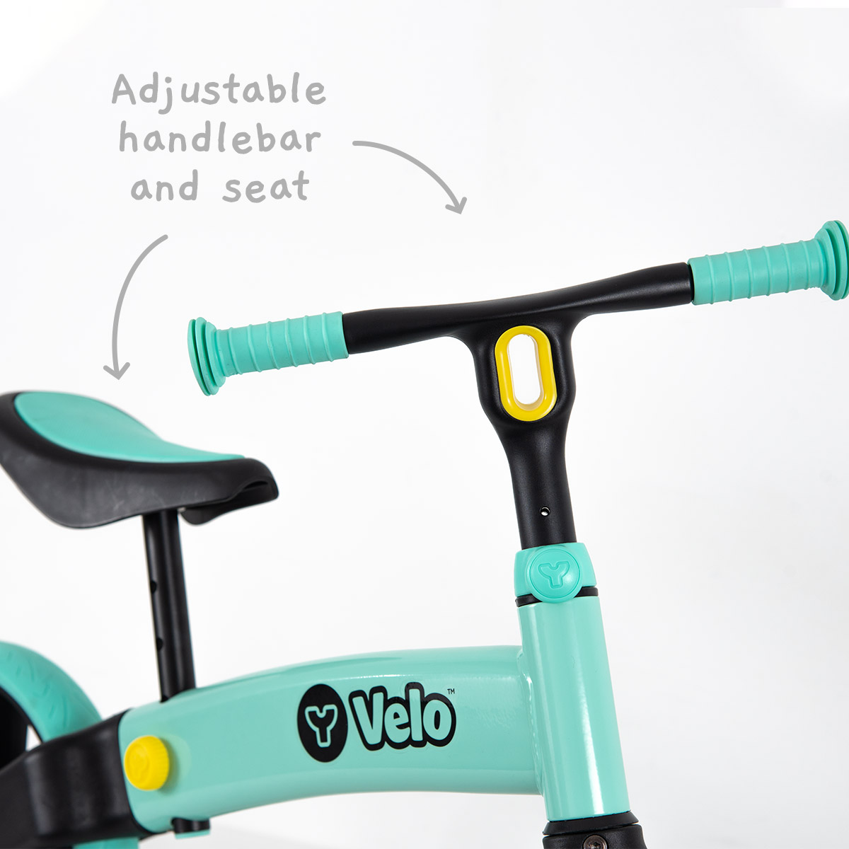 Adjustable seat and handle bar