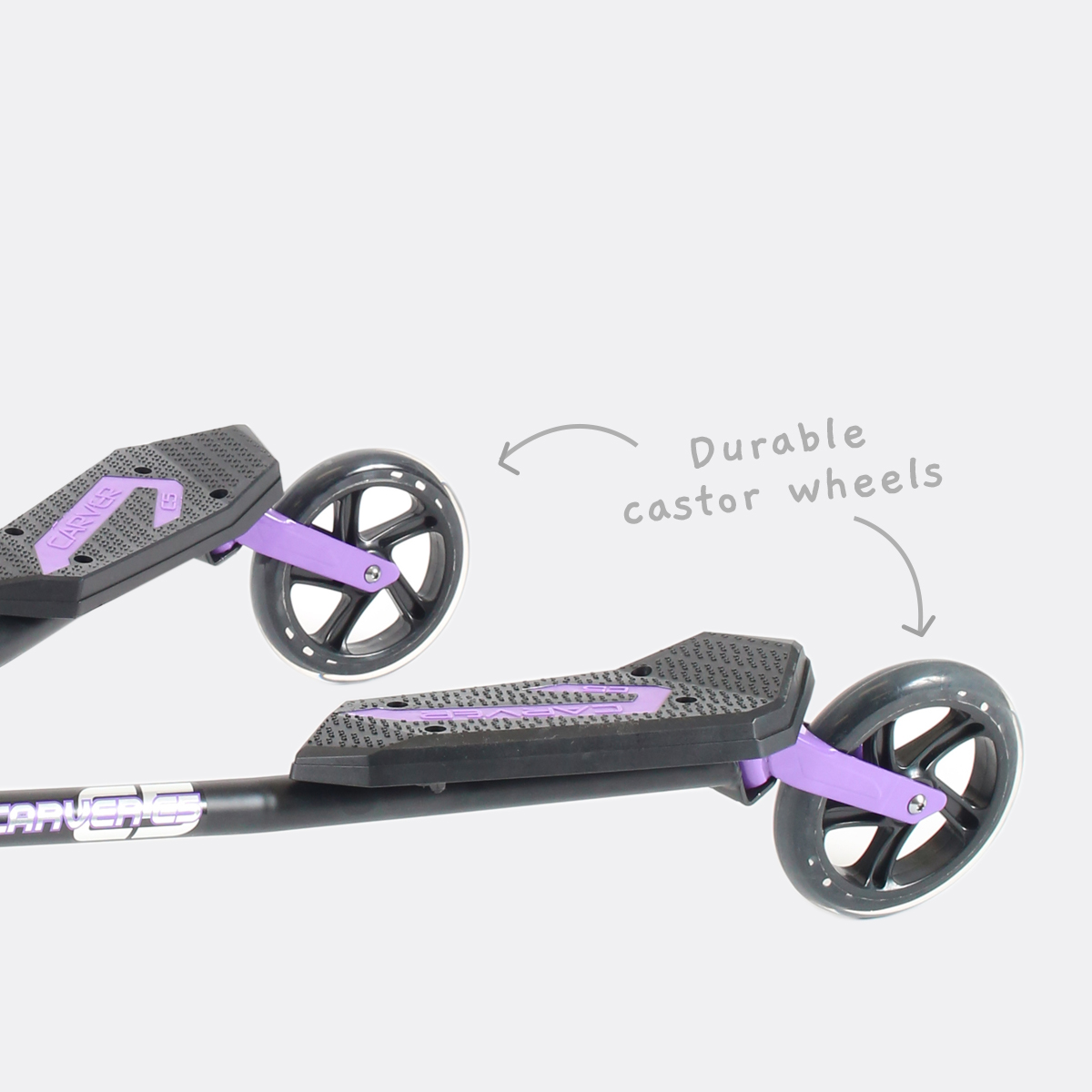 Durable castor wheels