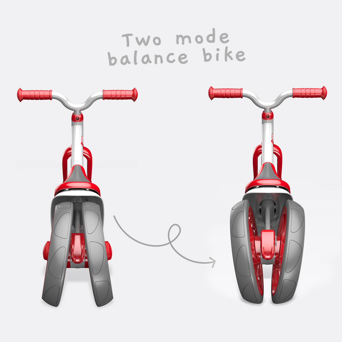 Two mode balance bike