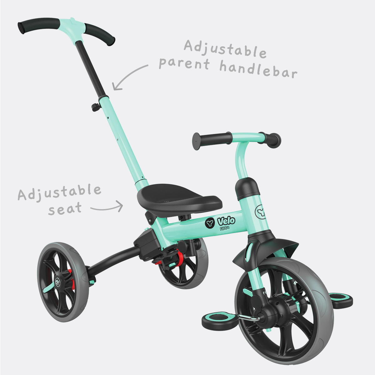 Adjustable parent handlebar and seat