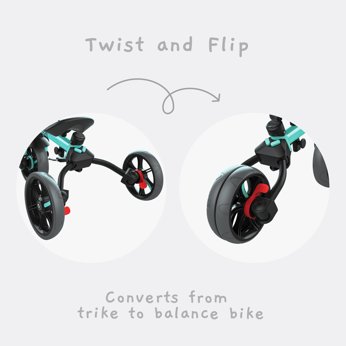 Twist and Flip - Converts from trike to balance bike